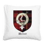 Wallace Clan Crest Tartan Square Canvas Pillow