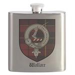 Wallace Clan Crest Tartan Flask
