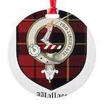 Wallace Clan Crest Tartan Round Ornament