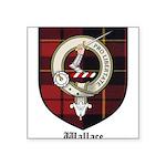 Wallace Clan Crest Tartan Square Sticker 3