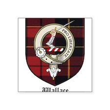 "Wallace Clan Crest Tartan Square Sticker 3"" x 3"""