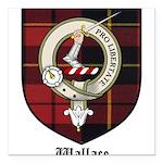 Wallace Clan Crest Tartan Square Car Magnet 3