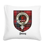 Young Clan Crest Tartan Square Canvas Pillow