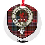 Young Clan Crest Tartan Round Ornament