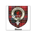 Young Clan Crest Tartan Square Sticker 3