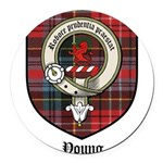 Young Clan Crest Tartan Round Car Magnet