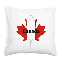 3-Canada-Leaf.jpg Square Canvas Pillow