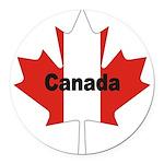 3-Canada-Leaf.jpg Round Car Magnet