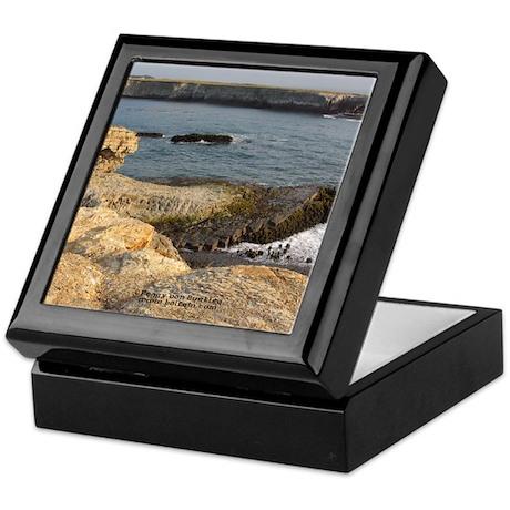 Stone Needle and Island Keepsake Box