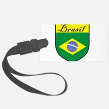 Brasil Flag Crest Shield Luggage Tag