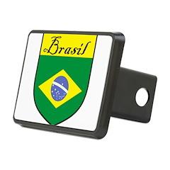 Brasil Flag Crest Shield Hitch Cover