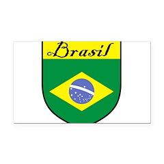 Brasil Flag Crest Shield Rectangle Car Magnet