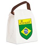Brazil Flag Crest Shield Canvas Lunch Bag