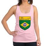 Brazil Flag Crest Shield Racerback Tank Top