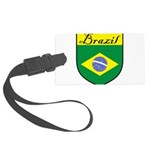 Brazil Flag Crest Shield Large Luggage Tag