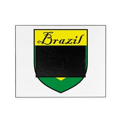 Brazil Flag Crest Shield Picture Frame