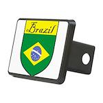 Brazil Flag Crest Shield Rectangular Hitch Cover