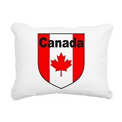 Canadian Flag Shield Rectangular Canvas Pillow