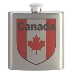 Canadian Flag Shield Flask
