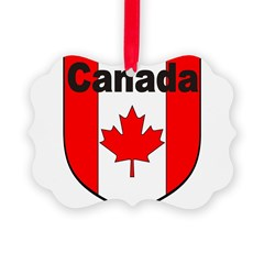 Canadian Flag Shield Ornament