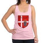 Danish Flag Crest Shield Racerback Tank Top