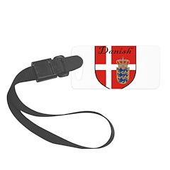 Danish Flag Crest Shield Luggage Tag