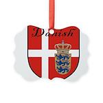 Danish Flag Crest Shield Picture Ornament