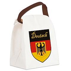 Deutsch Flag Crest Shield Canvas Lunch Bag