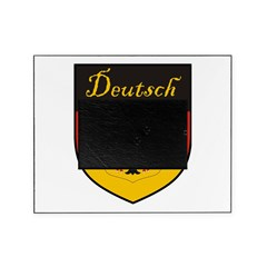 Deutsch Flag Crest Shield Picture Frame