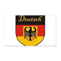 Deutsch Flag Crest Shield Rectangle Car Magnet