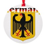 germany1.jpg Round Ornament