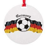 GermanySoccer.jpg Round Ornament