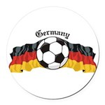 GermanySoccer.jpg Round Car Magnet