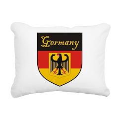 Germany Flag Crest Shield Rectangular Canvas Pillo