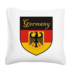 Germany Flag Crest Shield Square Canvas Pillow