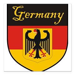 Germany Flag Crest Shield Square Car Magnet 3