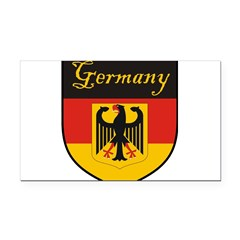 Germany Flag Crest Shield Rectangle Car Magnet