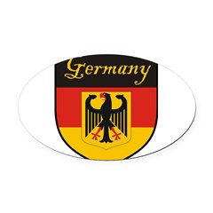 Germany Flag Crest Shield Oval Car Magnet