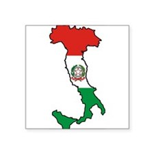 """Italy-Map-Decal.jpg Square Sticker 3"""" x 3"""""""