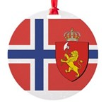 NORWAY-straight.jpg Round Ornament