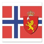 NORWAY-straight.jpg Square Car Magnet 3
