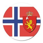 NORWAY-straight.jpg Round Car Magnet