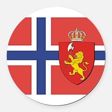 NORWAY-straight.jpg Round Car Magnet
