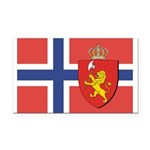 NORWAY-straight.jpg Rectangle Car Magnet