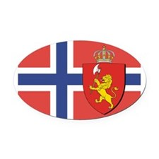 NORWAY-straight.jpg Oval Car Magnet