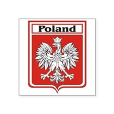 "Poland-shield.jpg Square Sticker 3"" x 3"""
