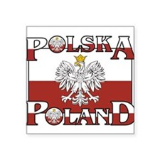 "polska-poland.png Square Sticker 3"" x 3"""