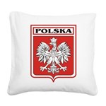polska-dark.png Square Canvas Pillow