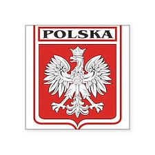 "polska-dark.png Square Sticker 3"" x 3"""