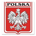 polska-dark.png Square Car Magnet 3